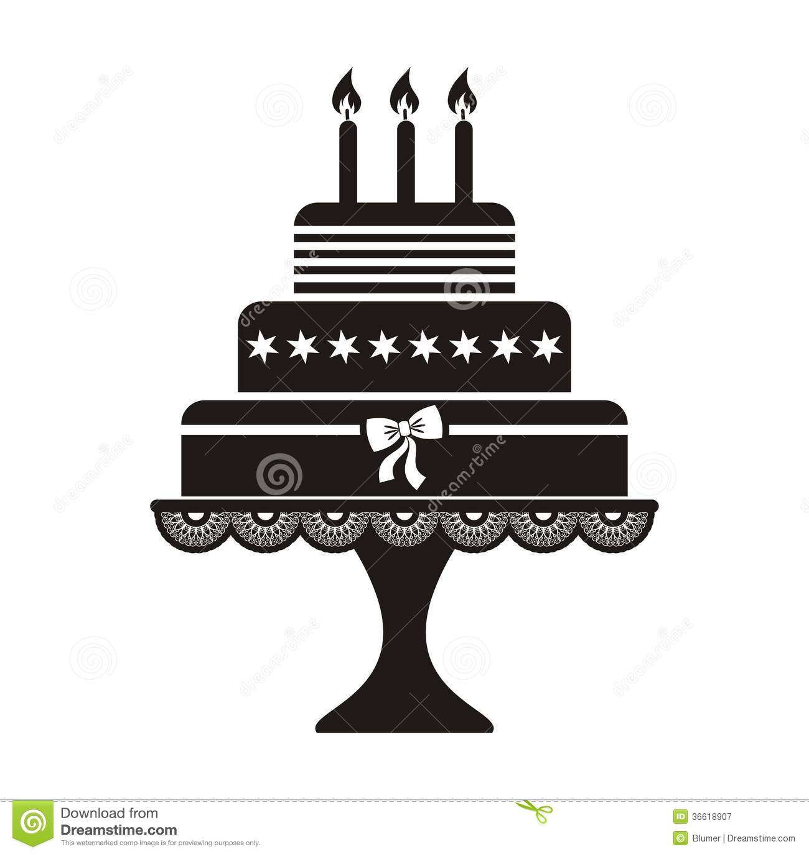 Birthday Cake Stock Vector Illustration Of Copy Birthday