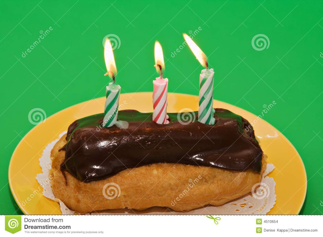 Birthday Eclair Pastry Stock Images Image 4510654