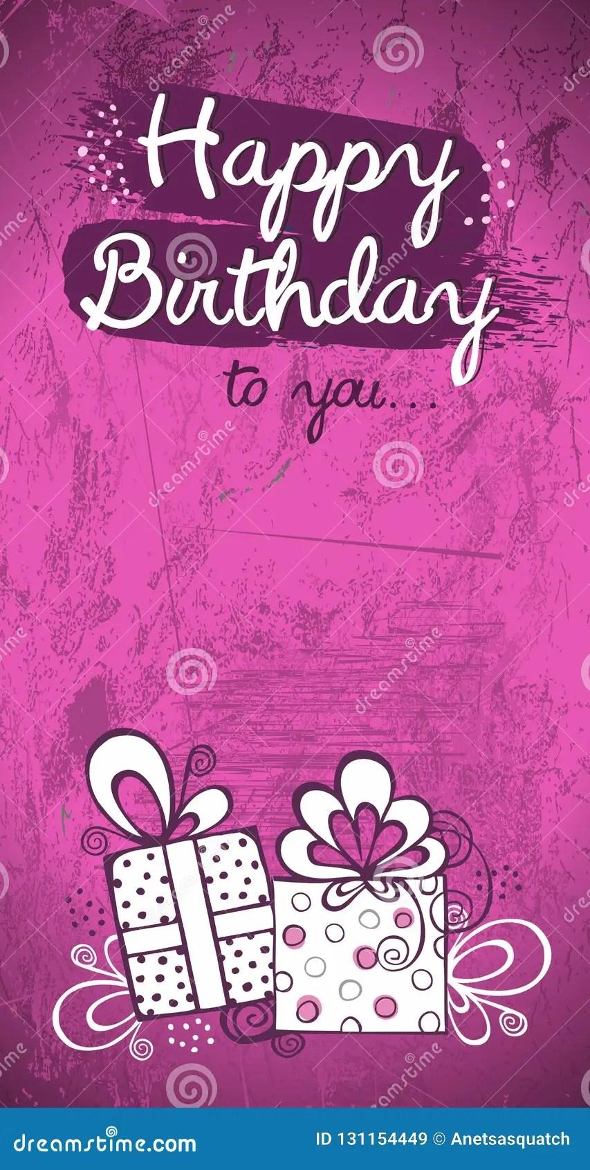 https www dreamstime com birthday invitation card greeting vector design pink modern background greedting grunge sketch image131154449