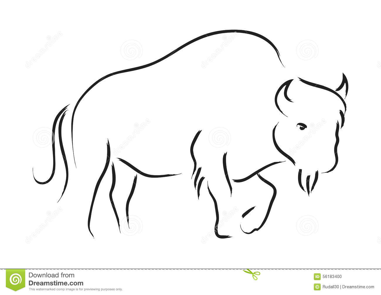 Bison Stock Vector Image Of Wildlife Graphic Symbol