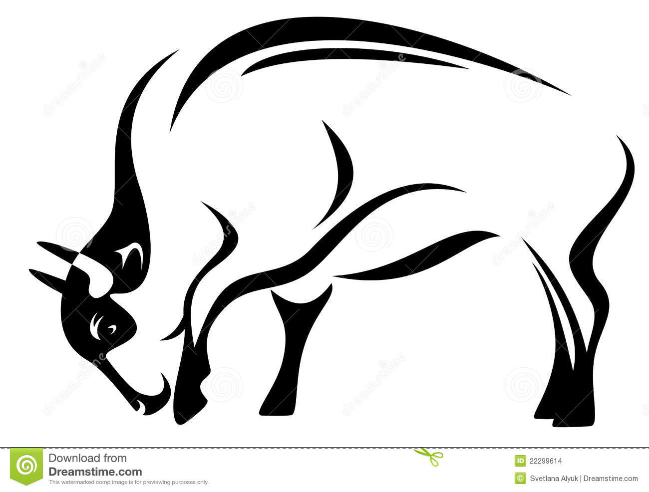 Bison Vector Stock Vector Illustration Of Clip Anger