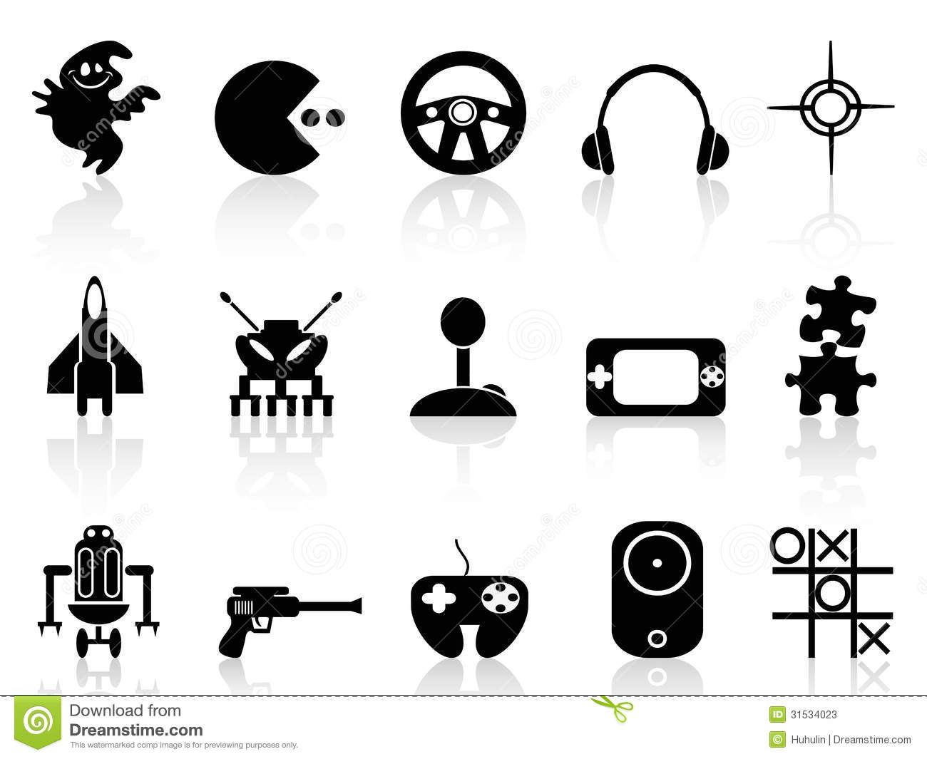 Black Computer Game Icon Stock Vector Image Of Isolated