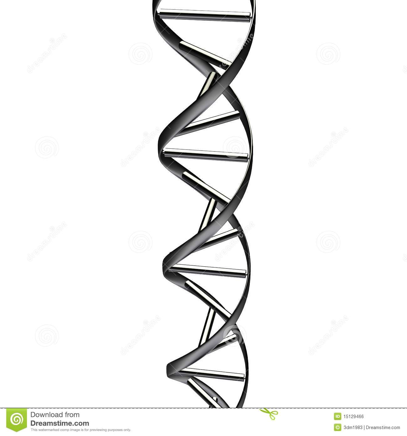 Black Dna Abstract Royalty Free Stock Image