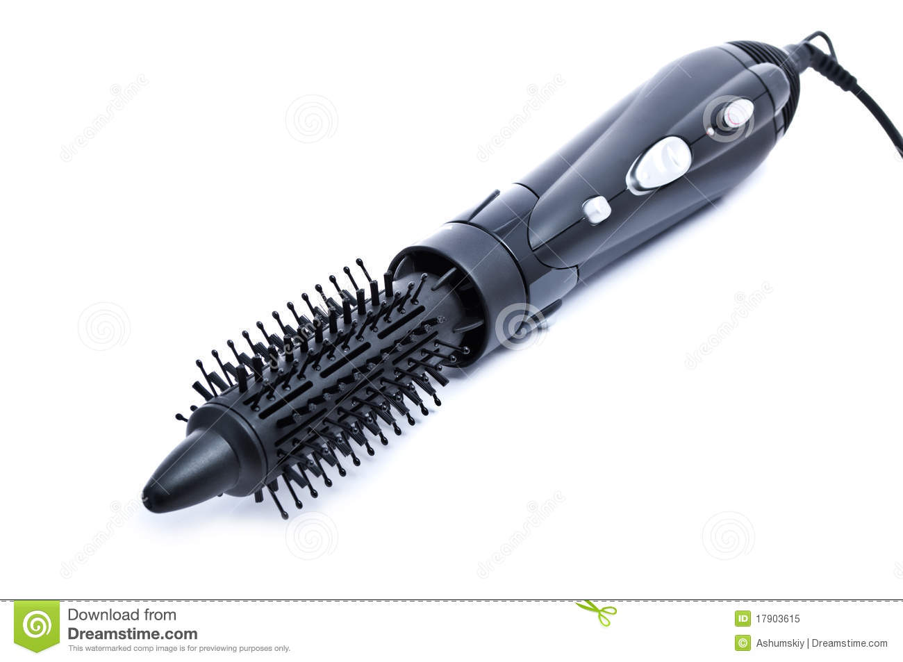 Black Hairdryer With Comb Stock Image Image Of Drier