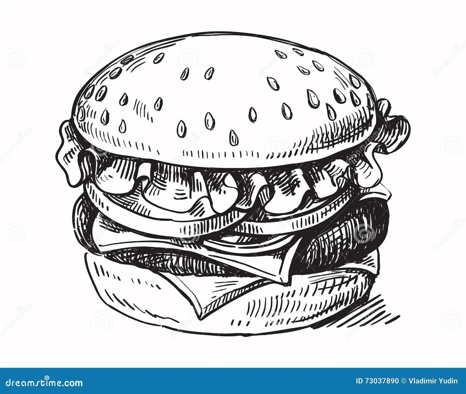 Hamburger Vector Drawing