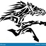 Black Horse Stock Vector Illustration Of Beautiful Arabian 45948161
