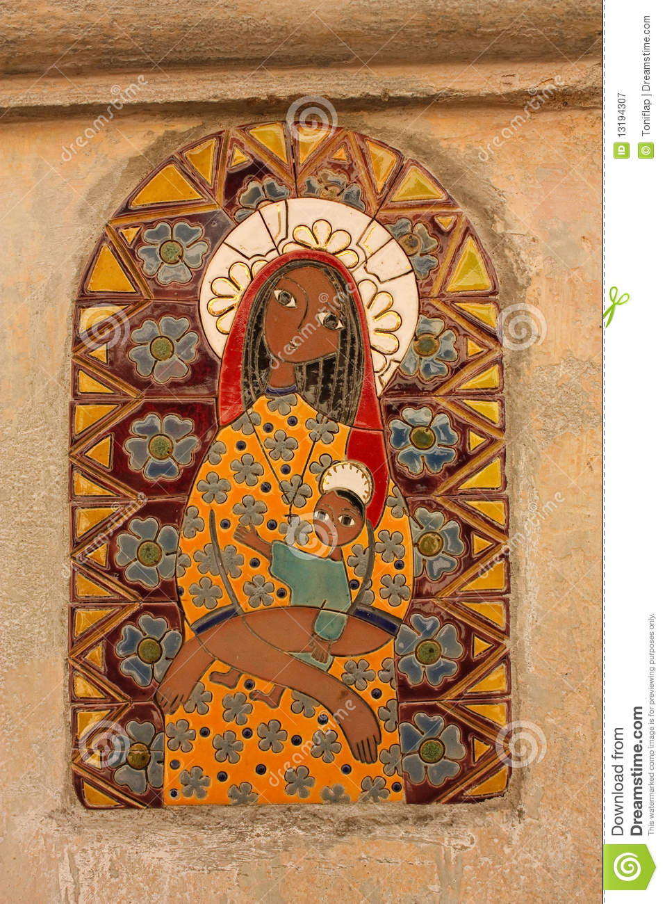 Black Madonna And Child Royalty Free Stock Photography