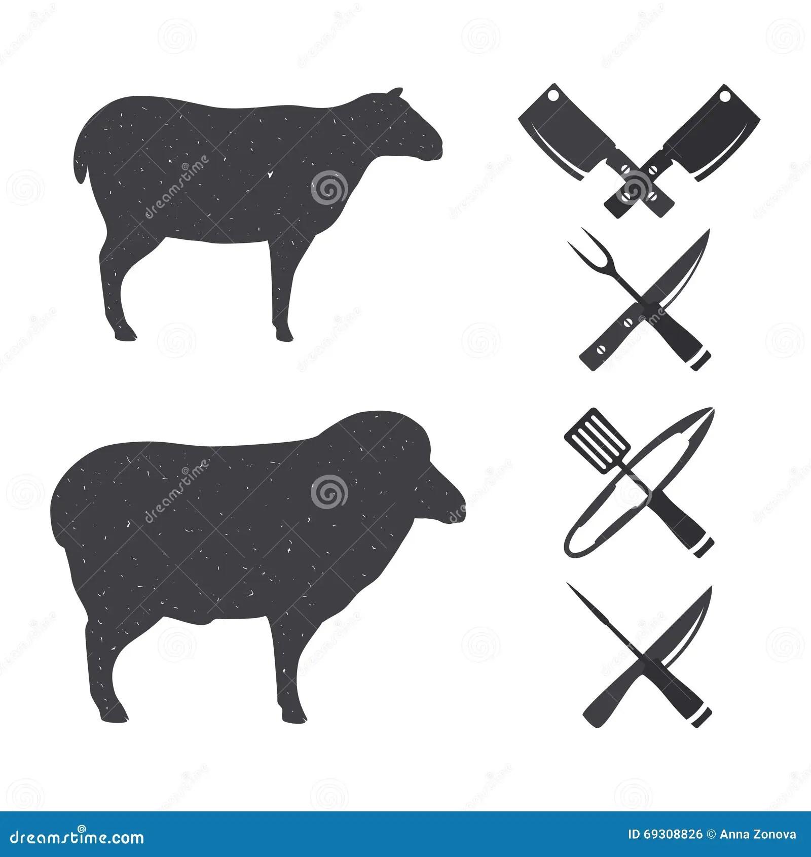 Art Cuts White Clip Lamb Black And