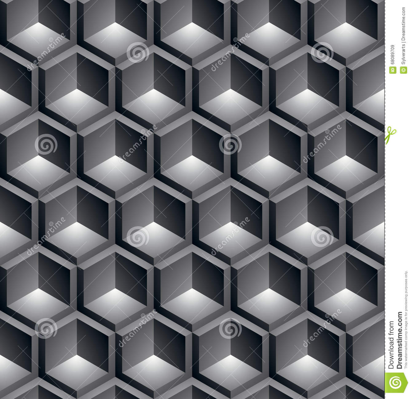 Black And White Abstract Textured Geometric Seamless Pattern Ve Stock Vector
