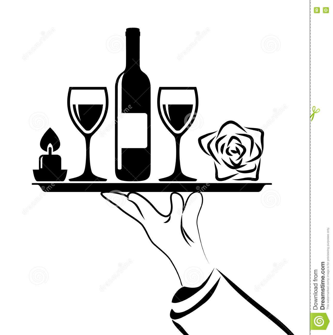 Black And White Catering Icon Vector Stock Vector