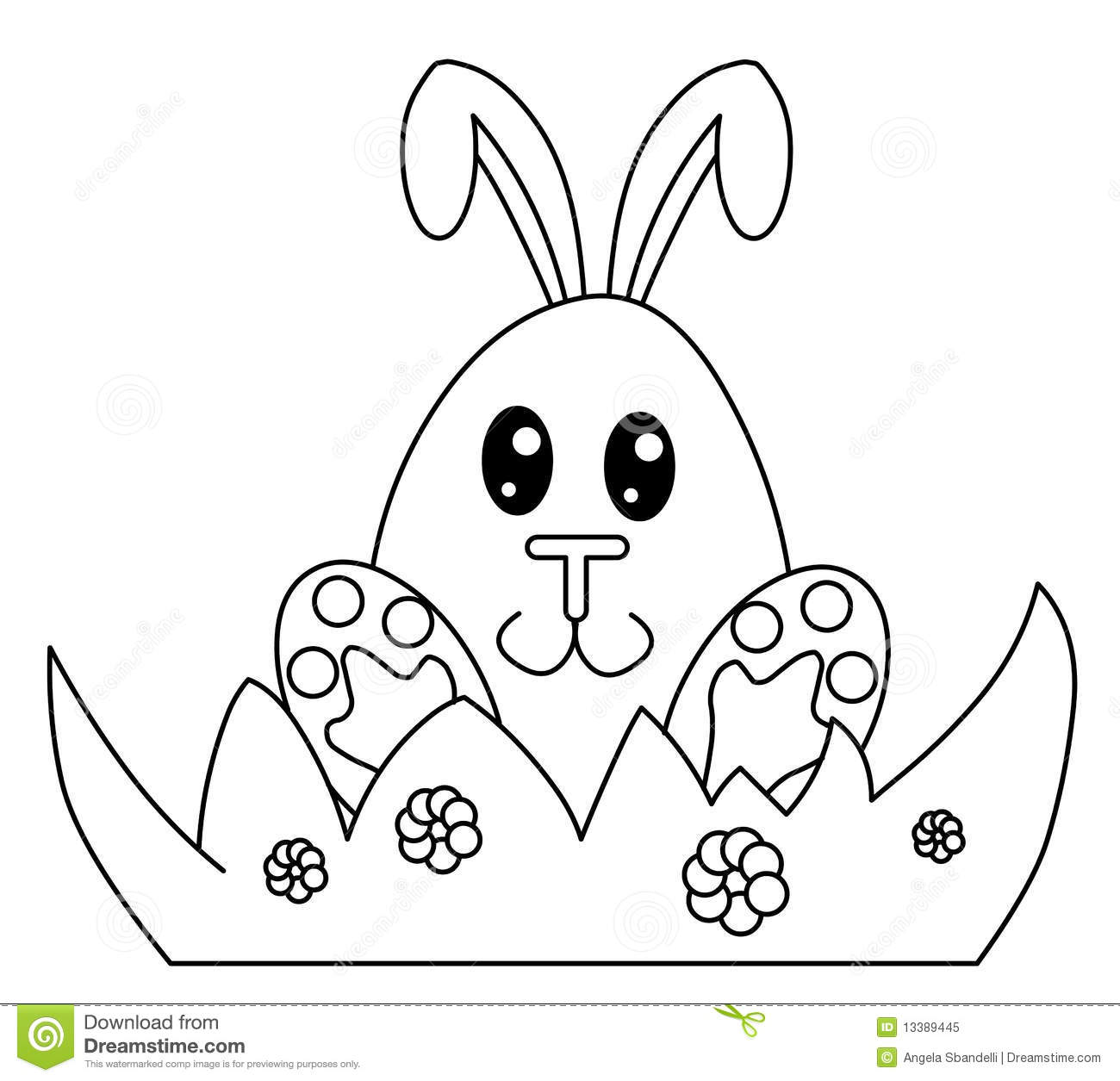 Black And White Easter Bunny Stock Illustration