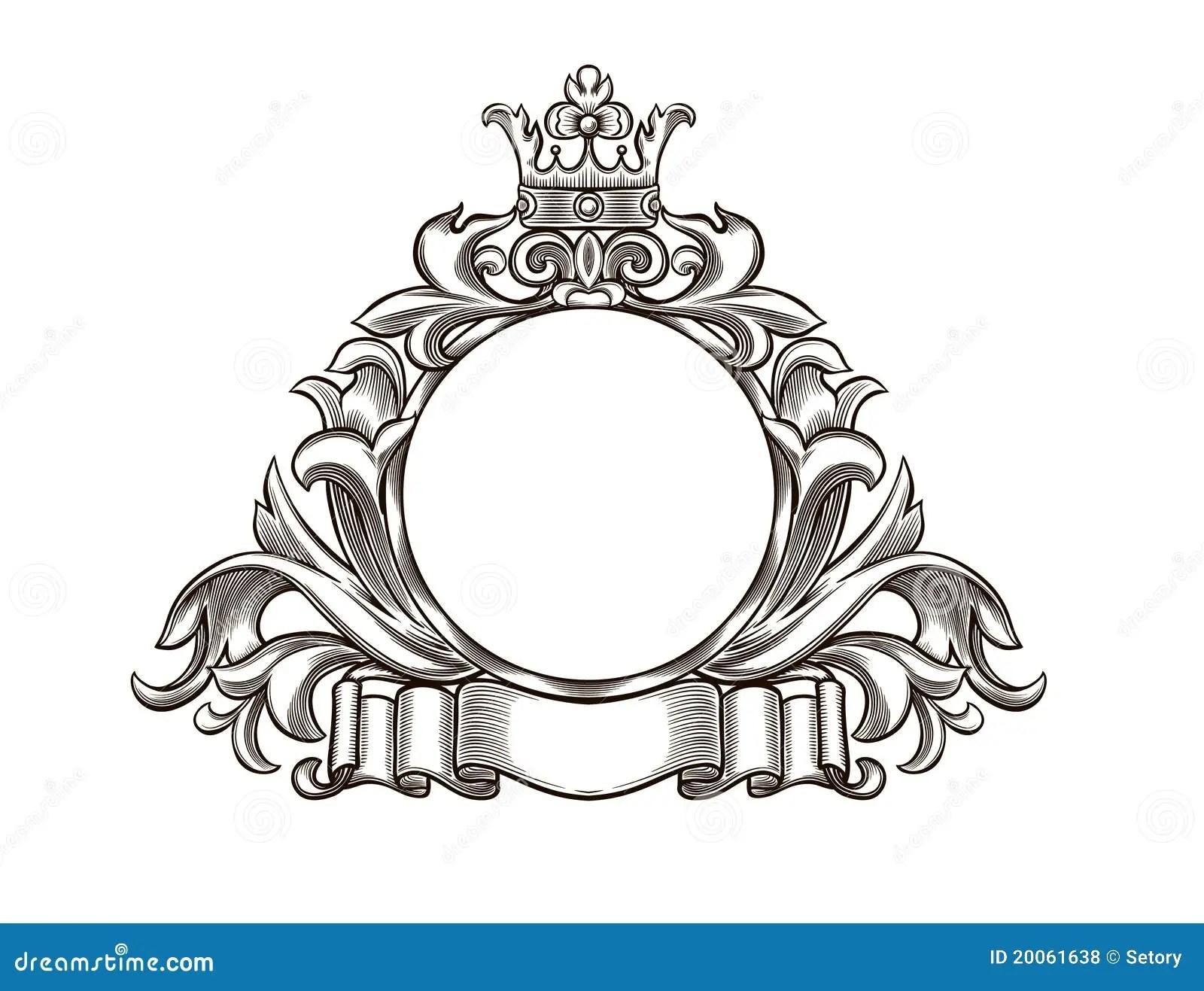 Black And White Emblem Royalty Free Stock Photos