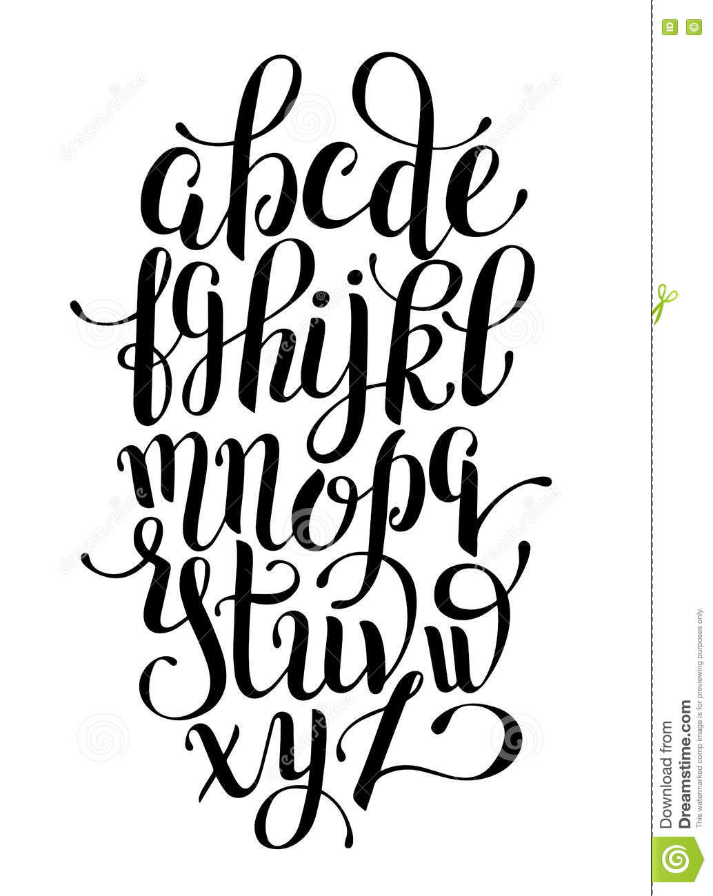 Cursive A To Z Calligraphy