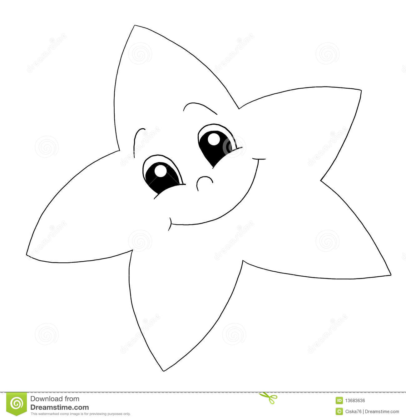 Black And White Little Star Royalty Free Stock Image