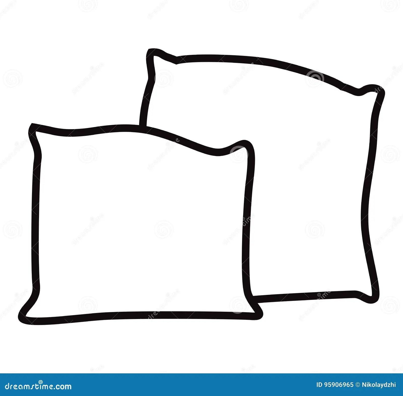 https www dreamstime com stock illustration black white pillow vector illustration eps image95906965