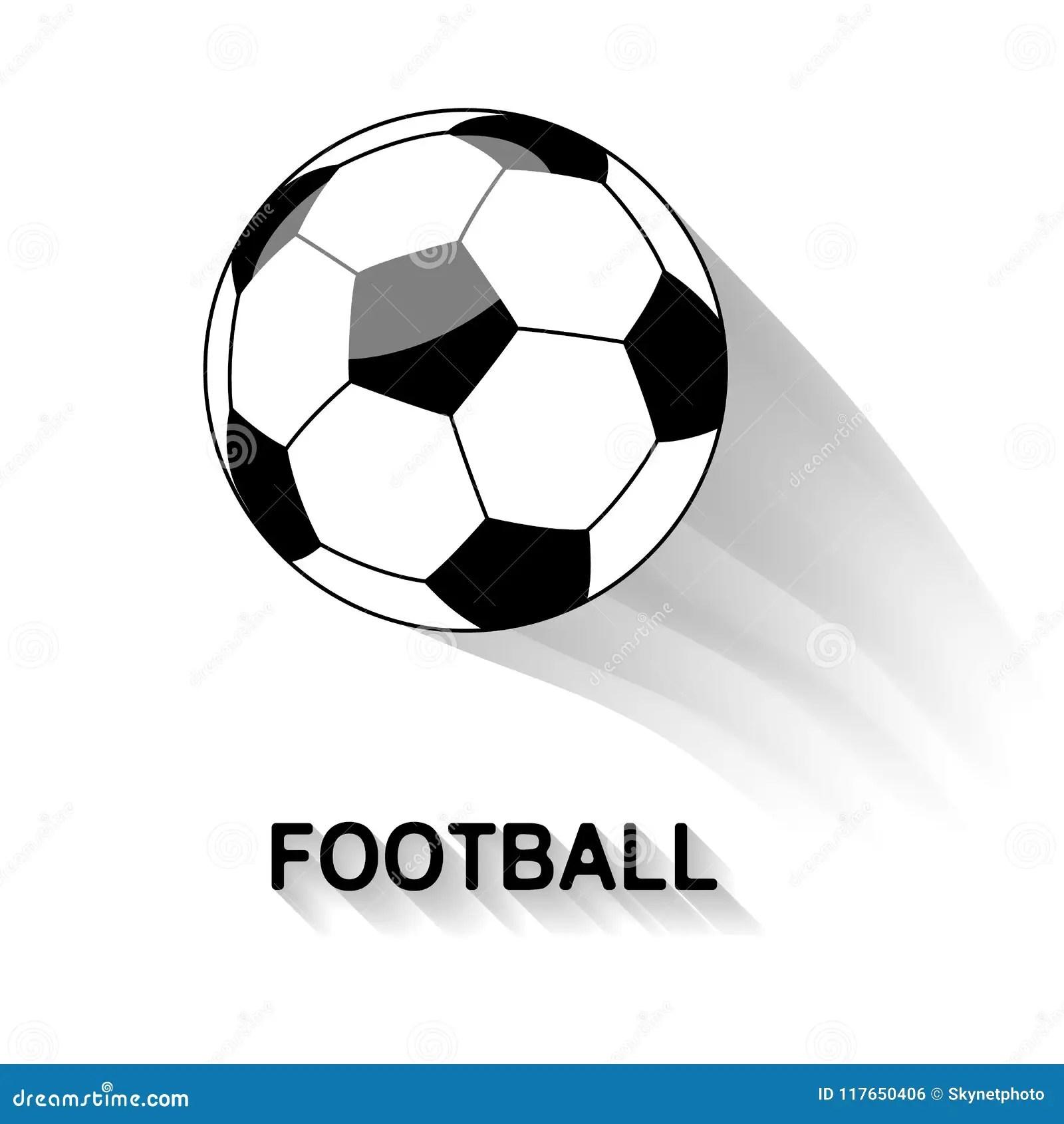 Black And White Soccer Ball Stock Vector