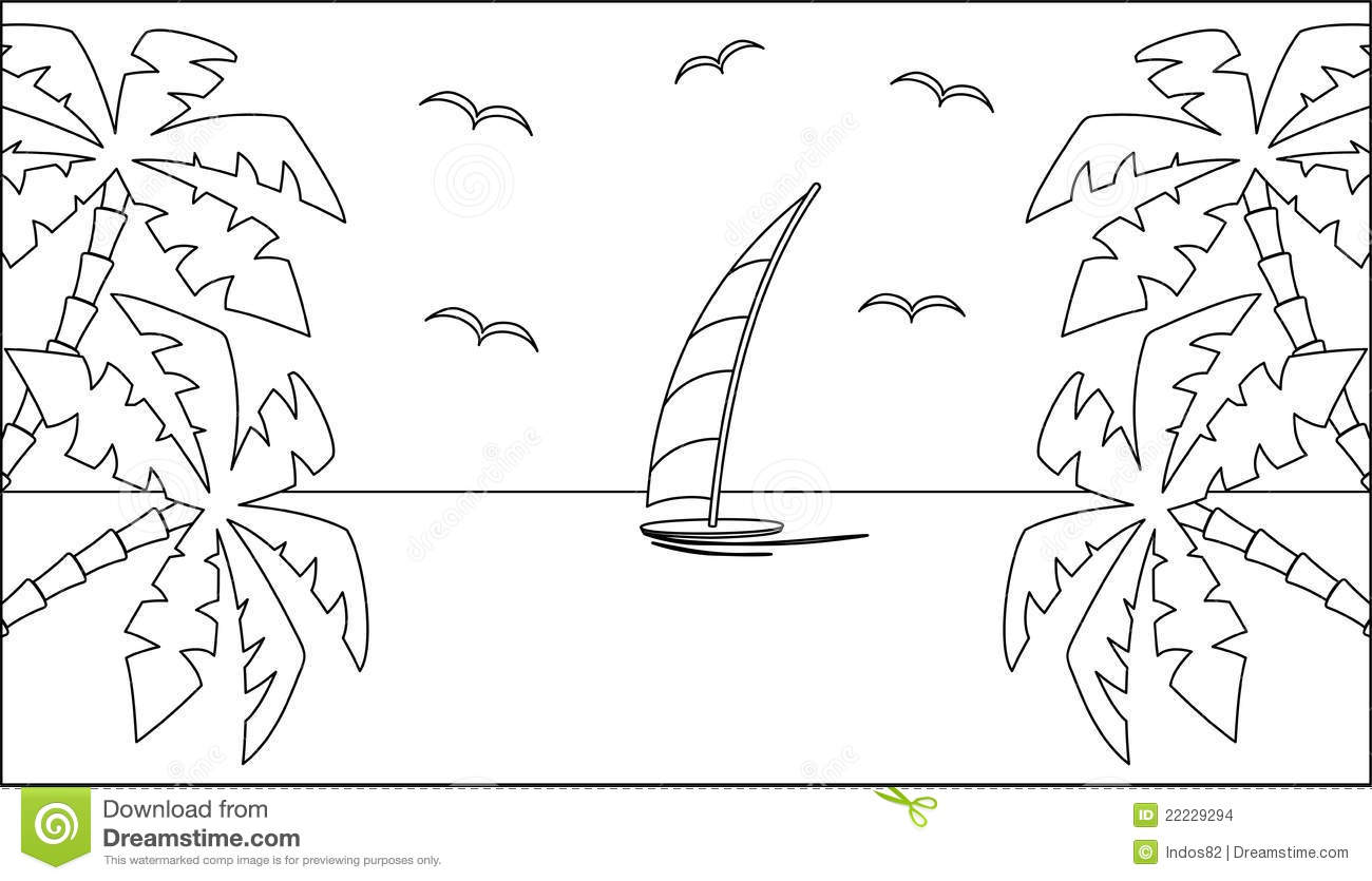 Black And White Landscape Clip Art Cliparts
