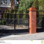 Black Wrought Gate Stock Image Image Of Home Decorative 40248313