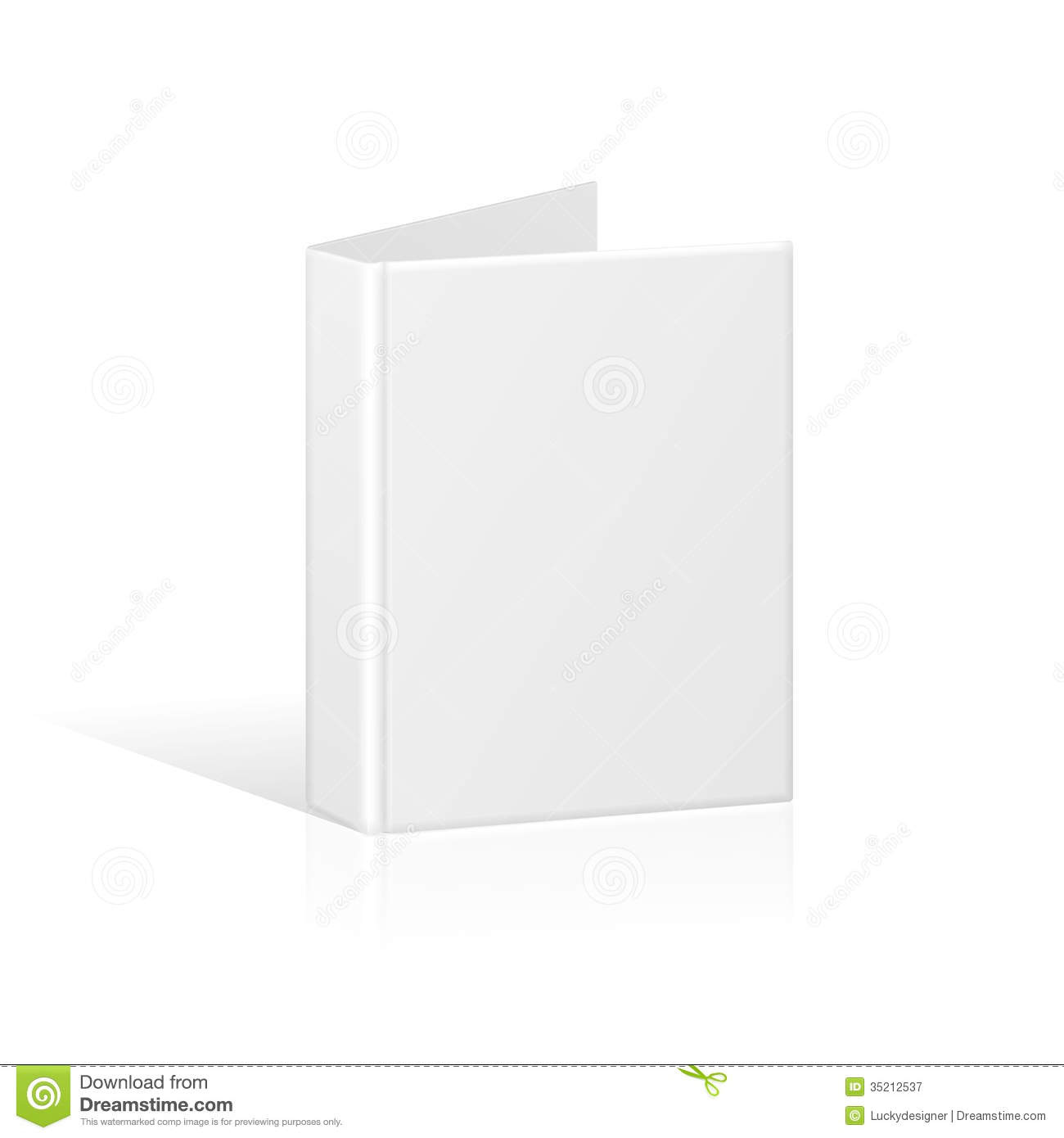 Blank Book Cover Binder Or Folder Template Stock Vector Image 35212537