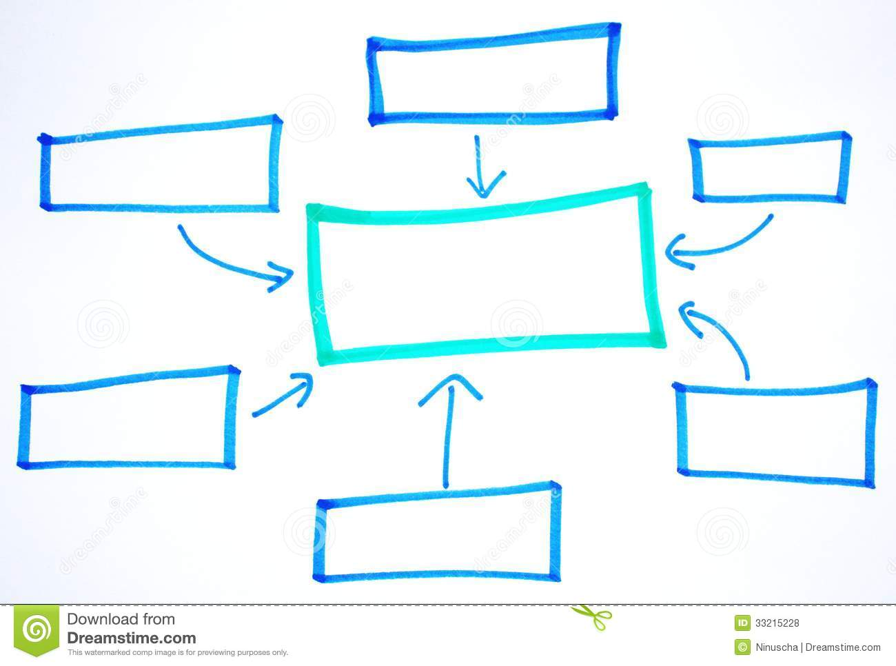 Blank Business Diagrams Stock Photo Image Of Requirement