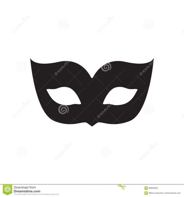 Blank Carnival Mask Icon Template Illustration Vector ...