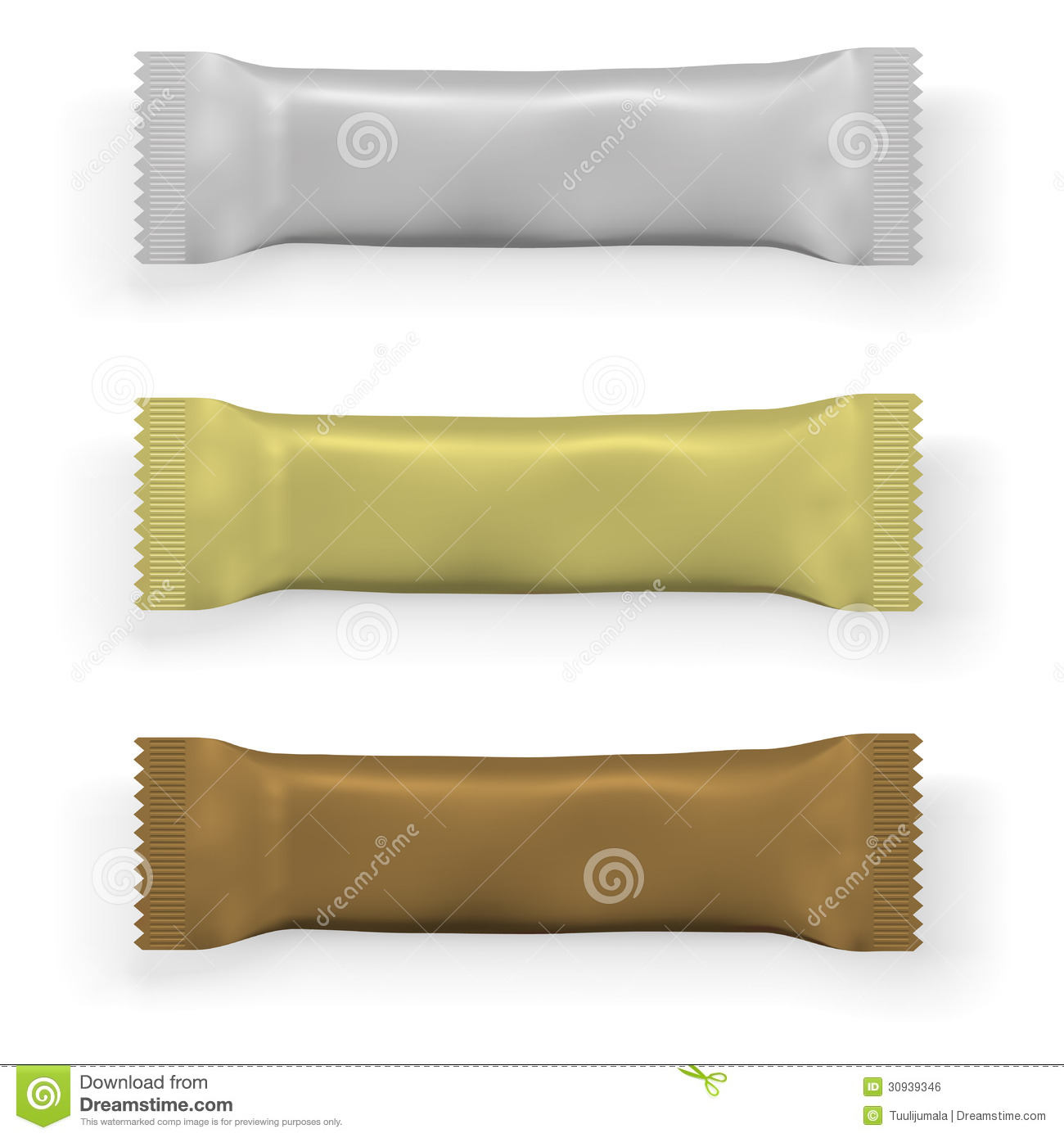 Blank Chocolate Bar Packaging Stock Vector Image 30939346