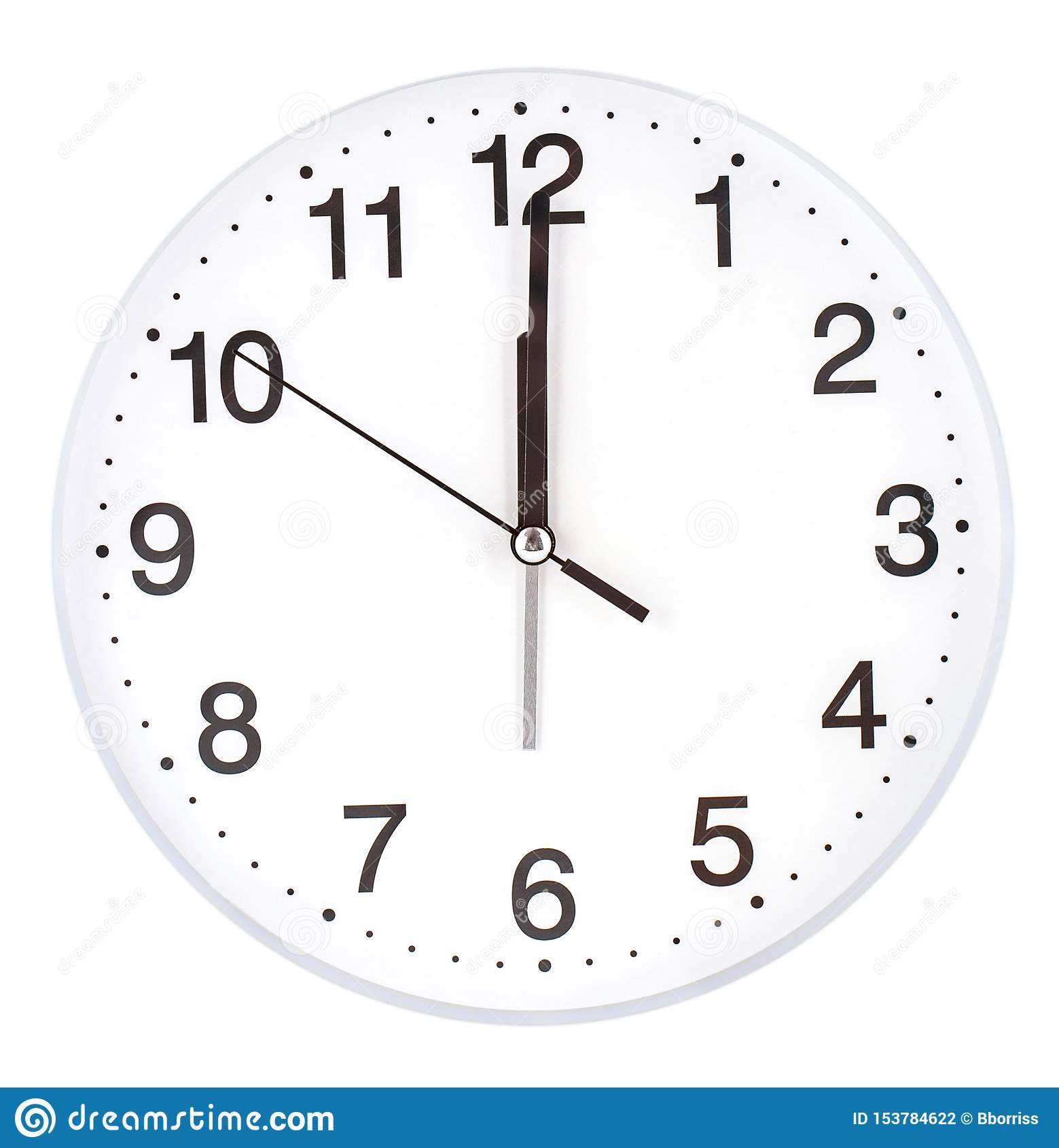 The Blank Clock Face With Hour Minute And Second Hands