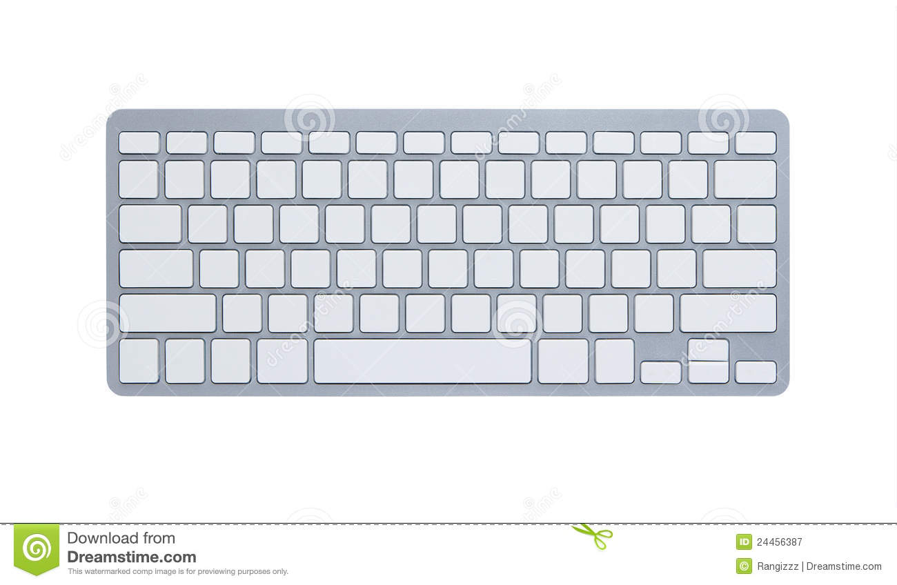 Blank Computer Keyboard With Clipping Path Royalty Free