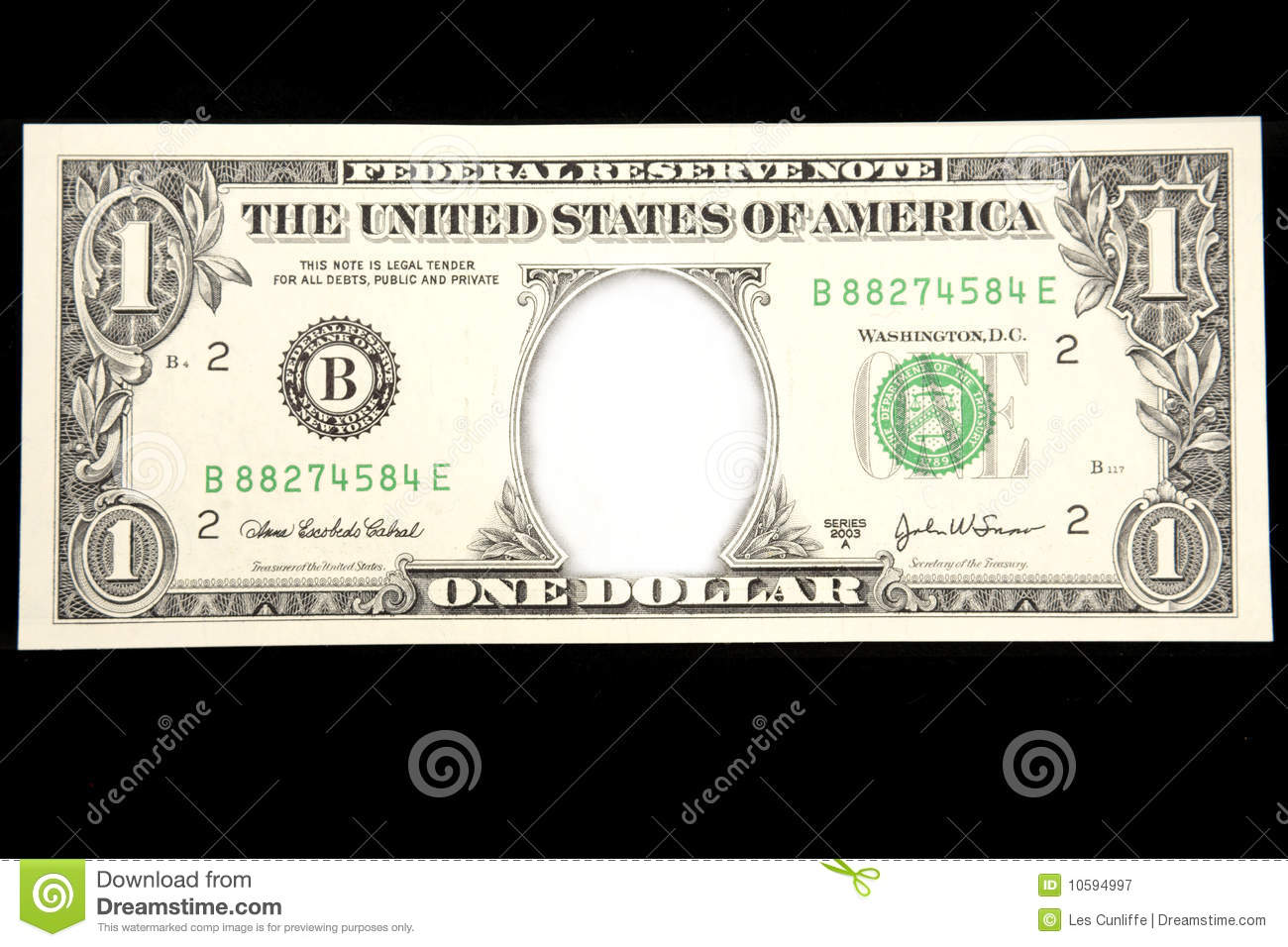 Blank Dollar Stock Image Image Of Blank Banknote Copy