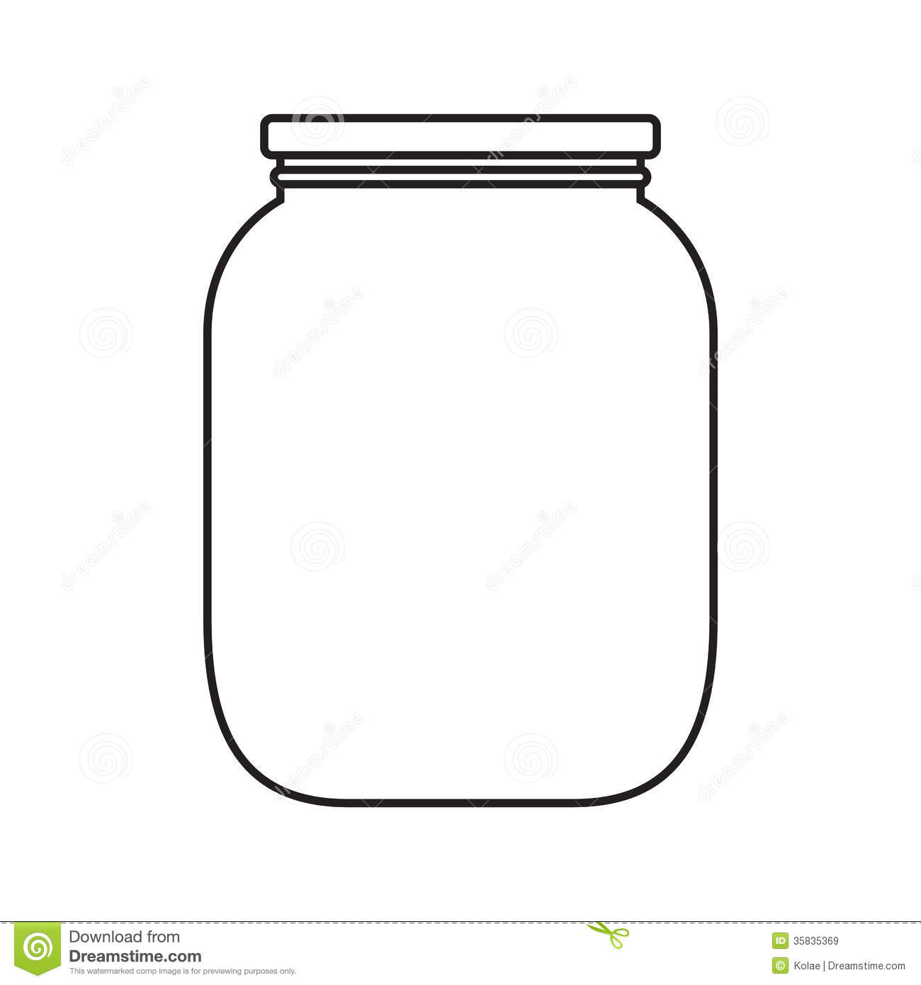 Blank Jar With Cap Royalty Free Stock Images