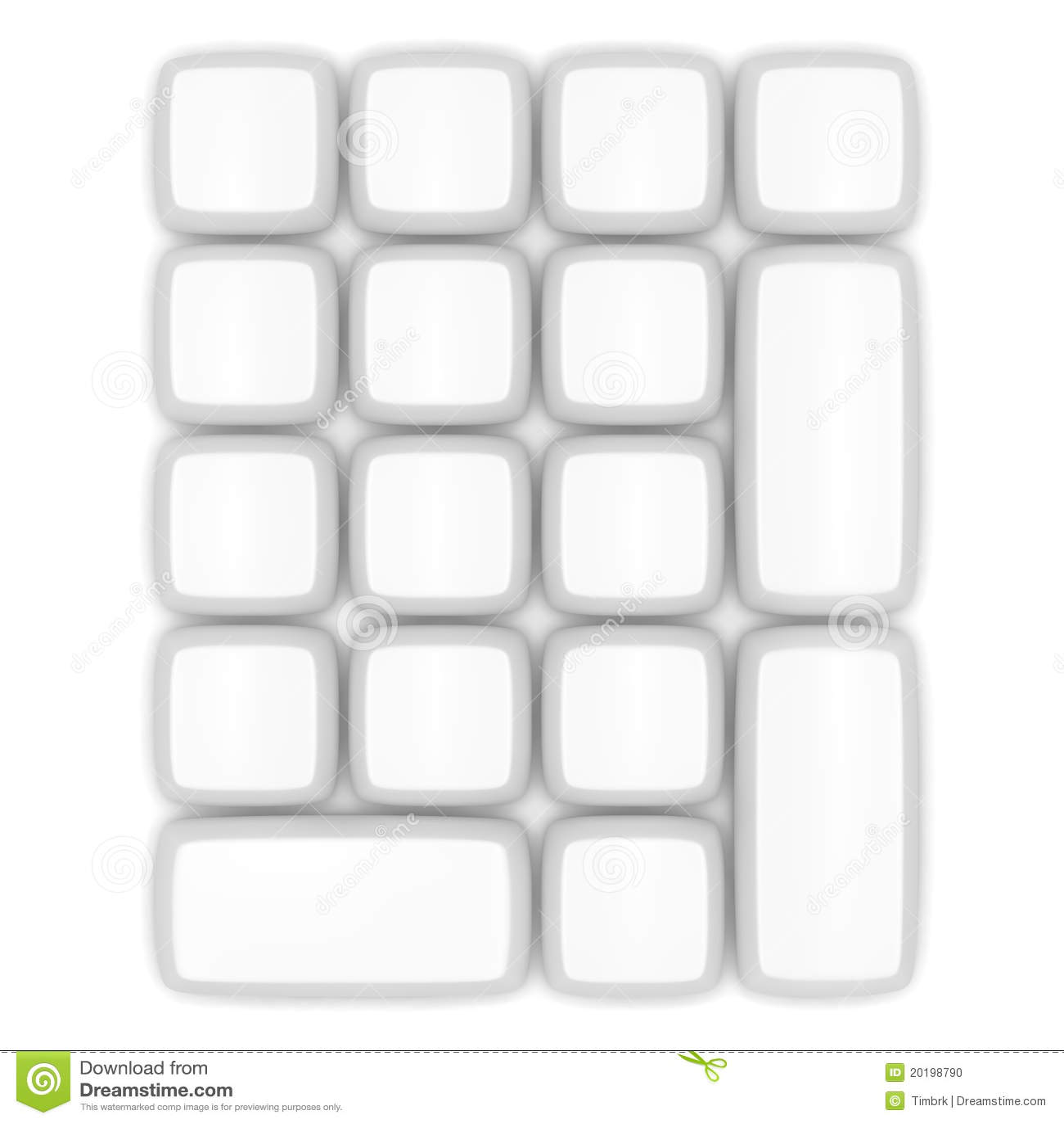 Blank Keypad Stock Illustration Illustration Of Push