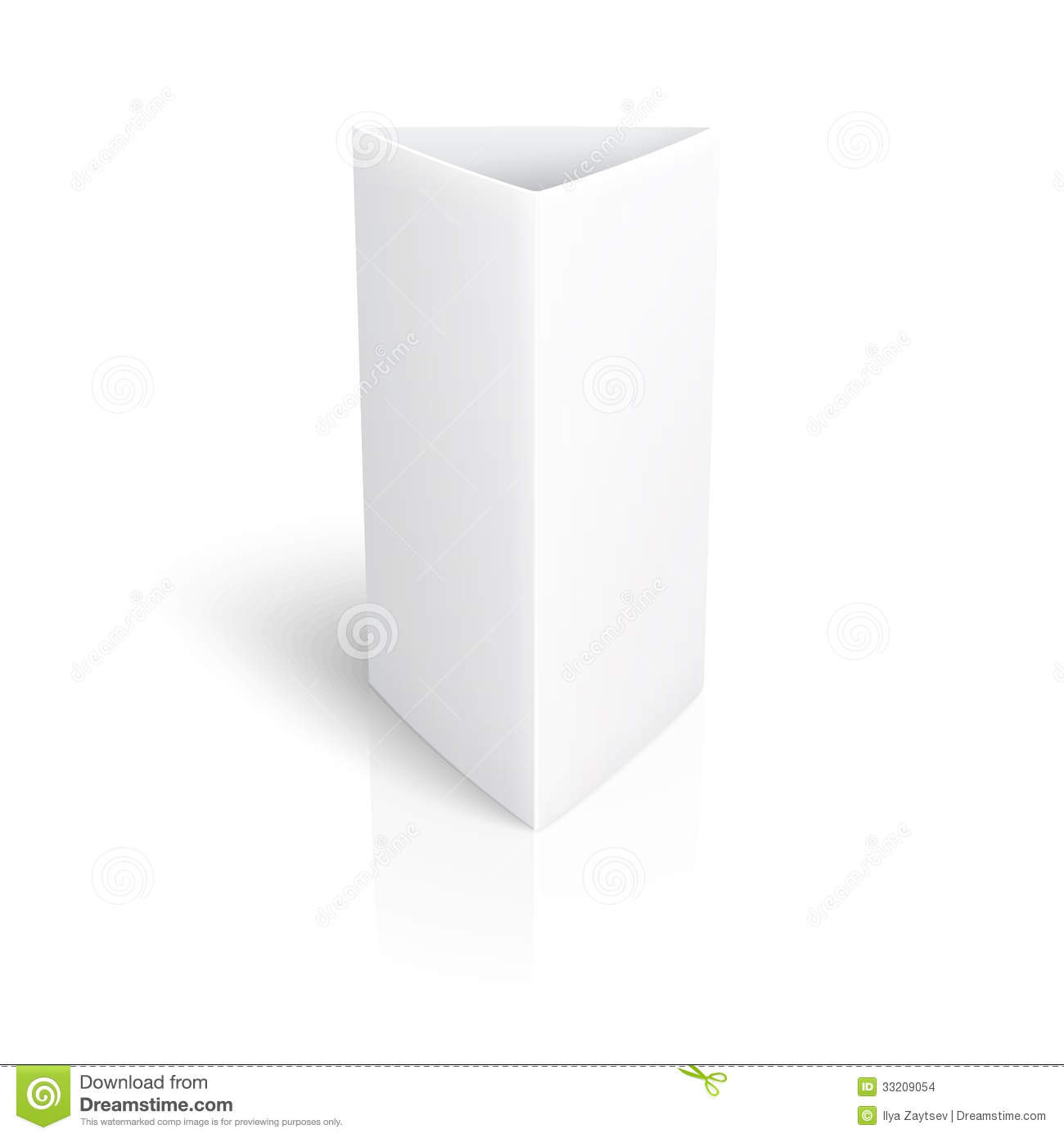 Blank Paper Vertical Triangle Card Stock Images Image 33209054