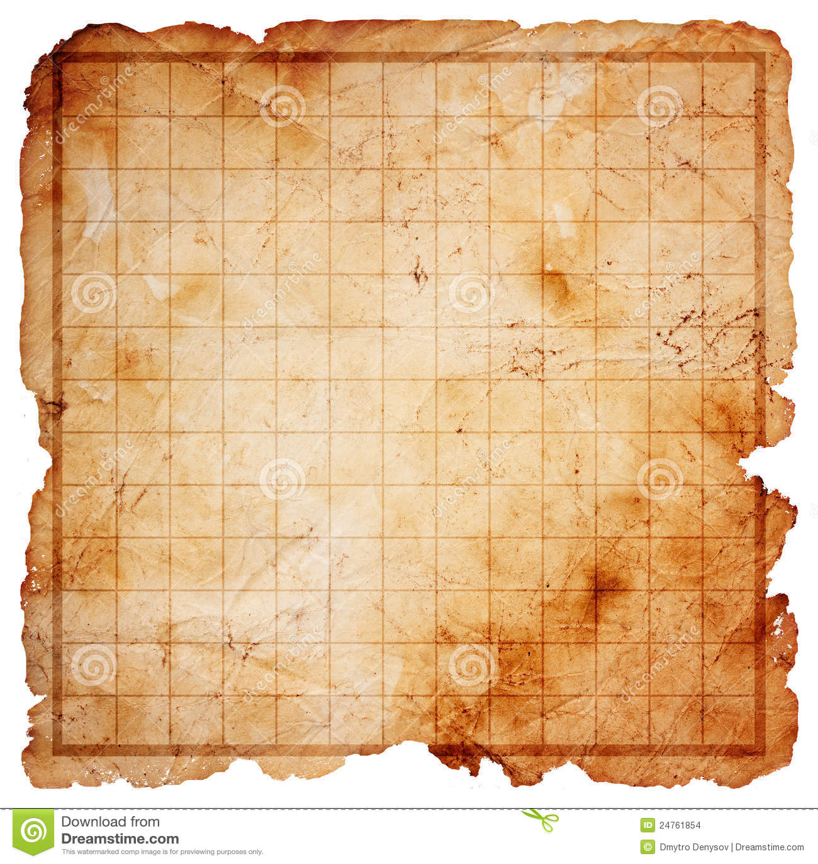 Blank Pirate Treasure Map Stock Illustration Illustration