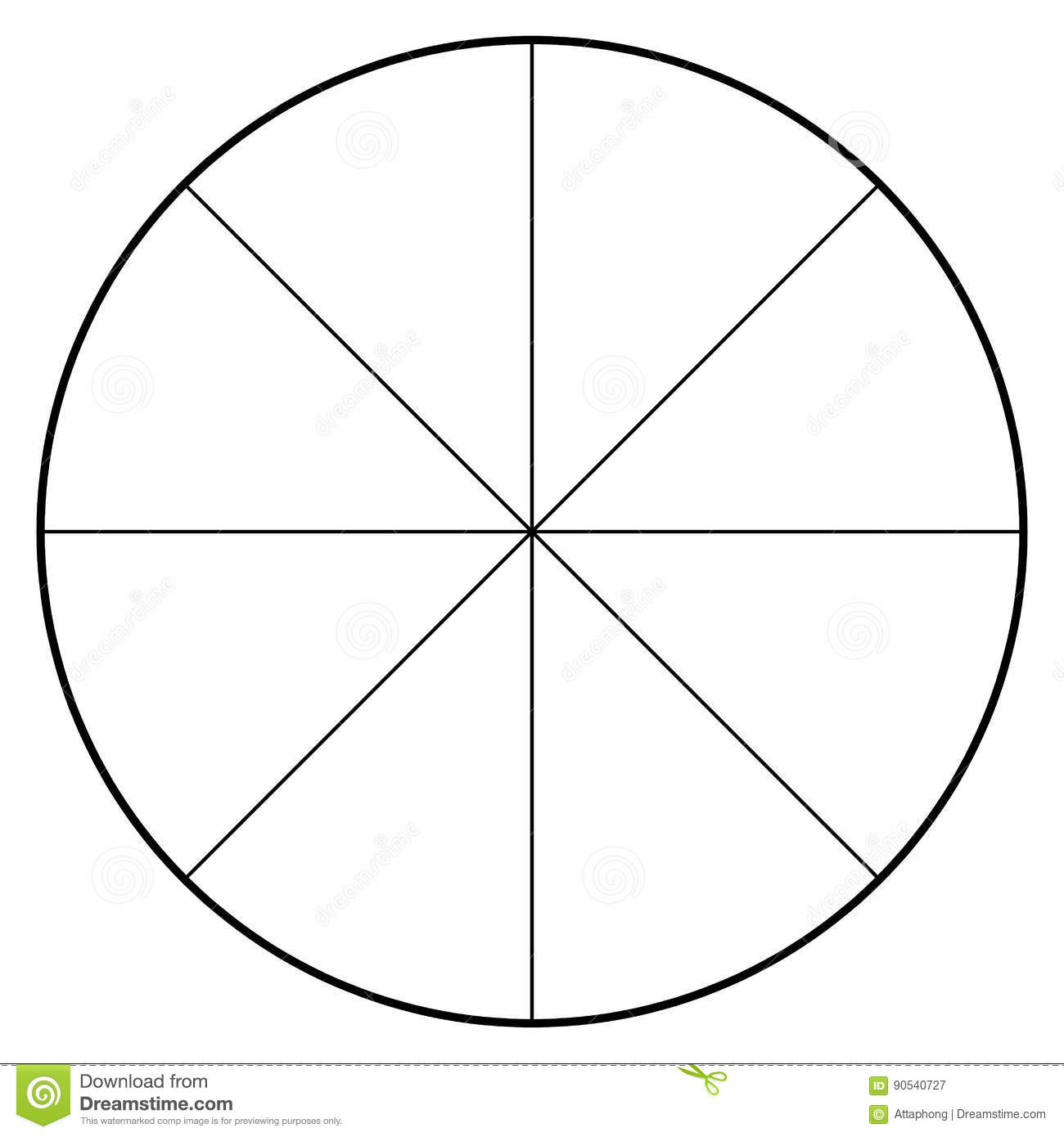 Blank Pie Chart 10 Sections