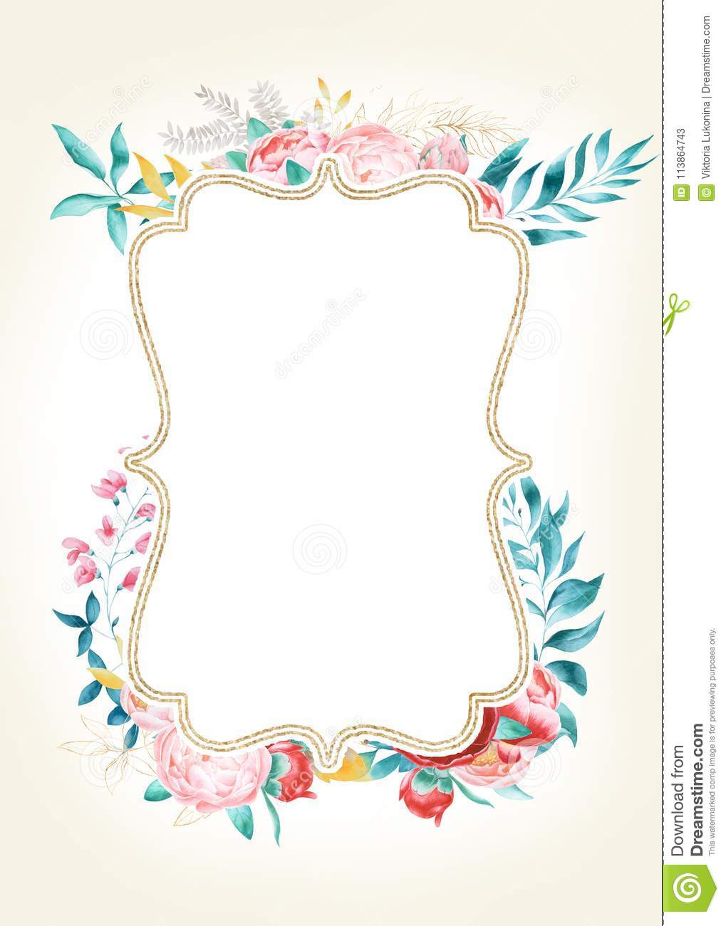 https www dreamstime com blank space your text illustration greeting cards invitations other printing projects card floral vintage template image113864743