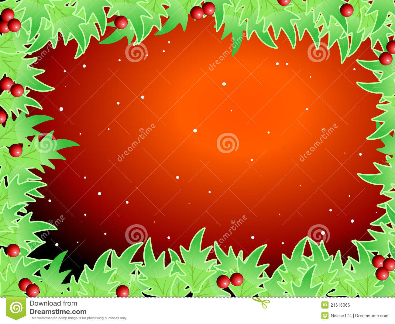 Blank Template For Christmas Greetings Card Stock