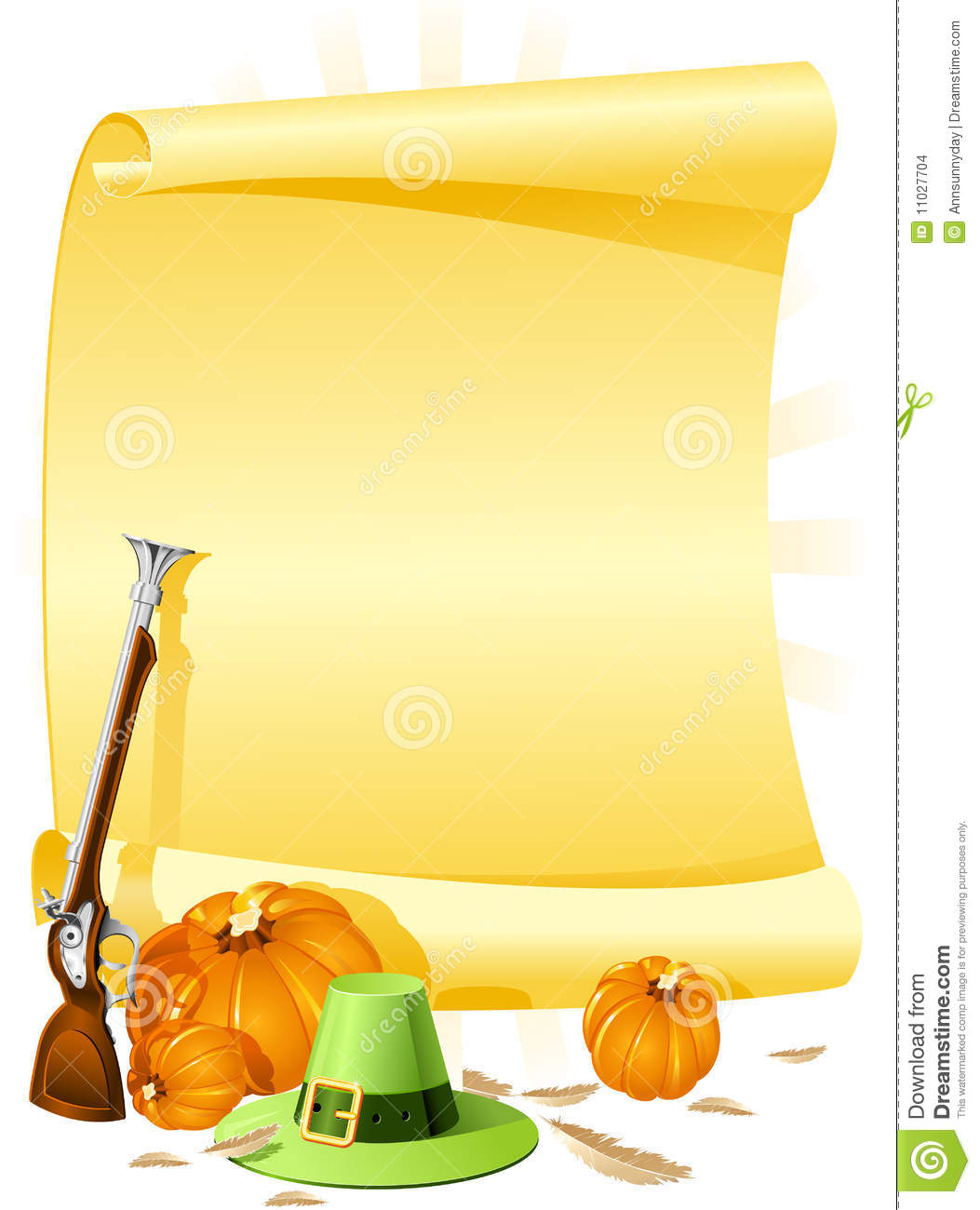 Blank Thanksgiving Banquet Invitation Stock Images