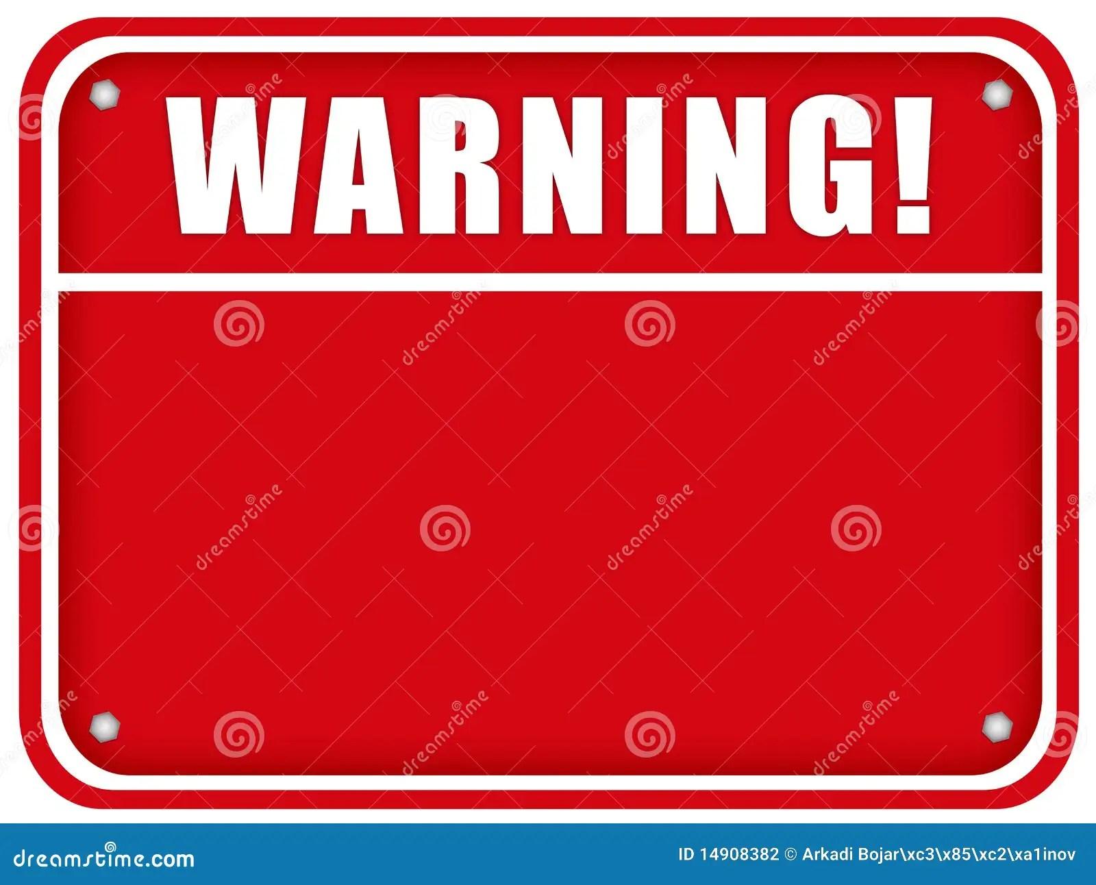 Printable Blank Warning Signs