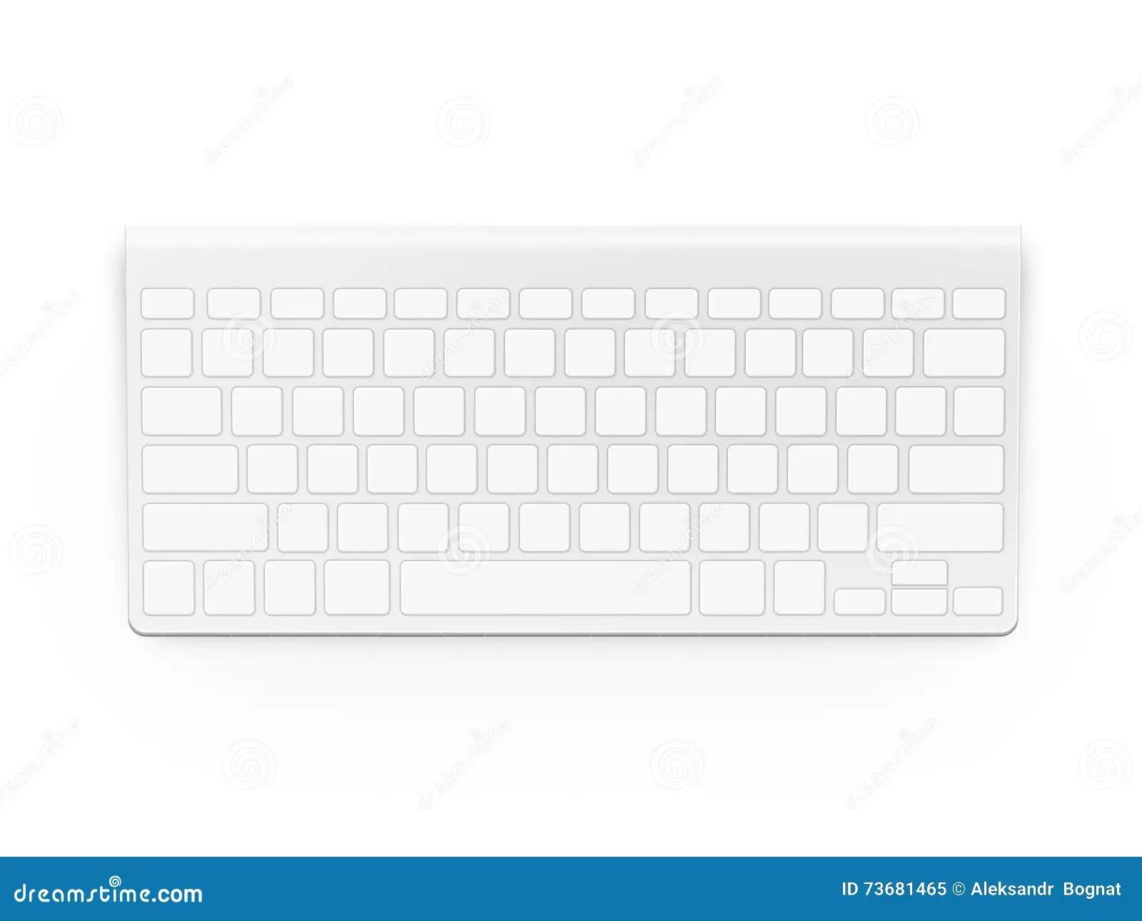 Blank White Keyboard Design Mock Up Empty Buttons Keyp