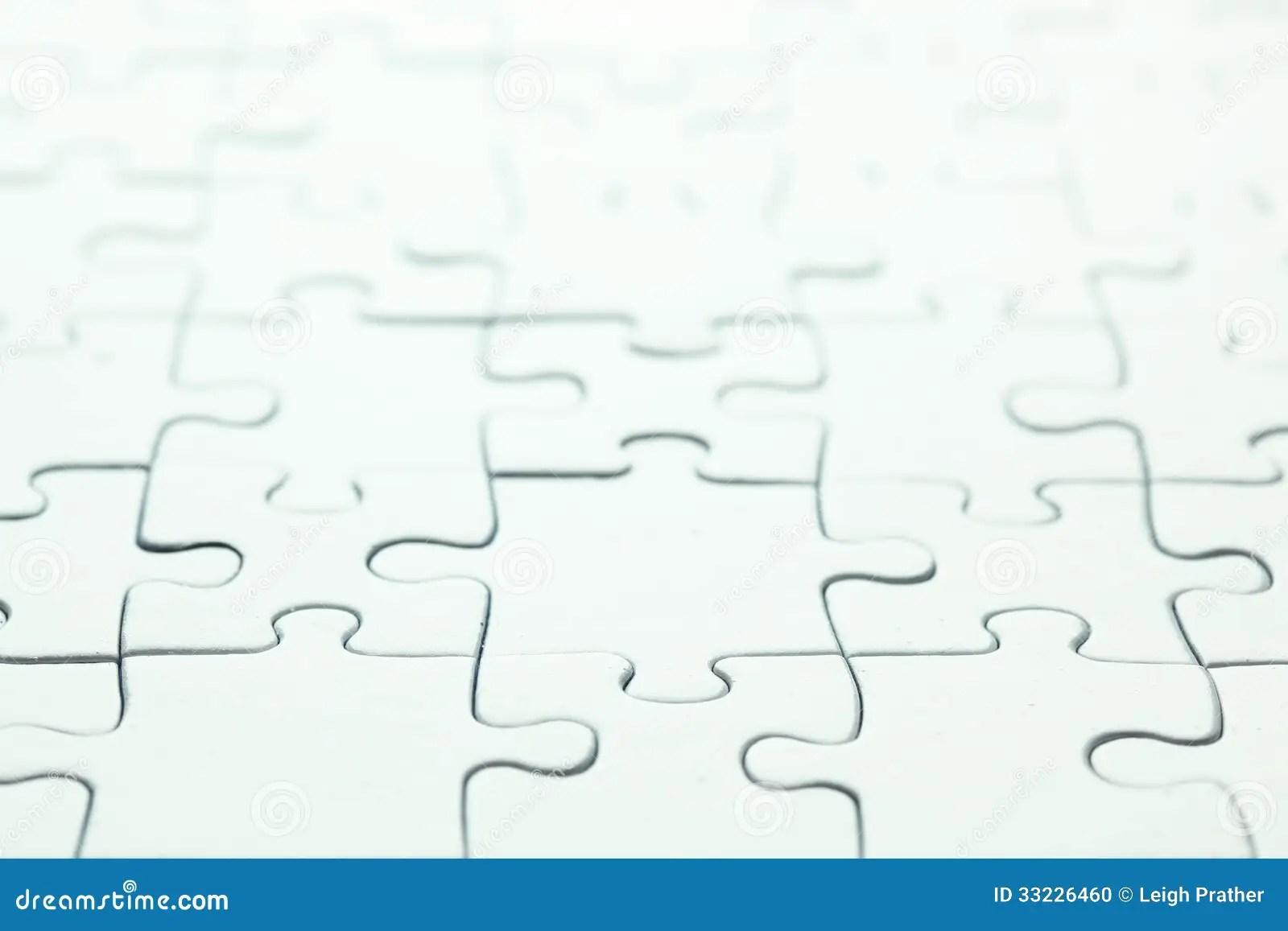 Blank White Puzzle Stock Photo