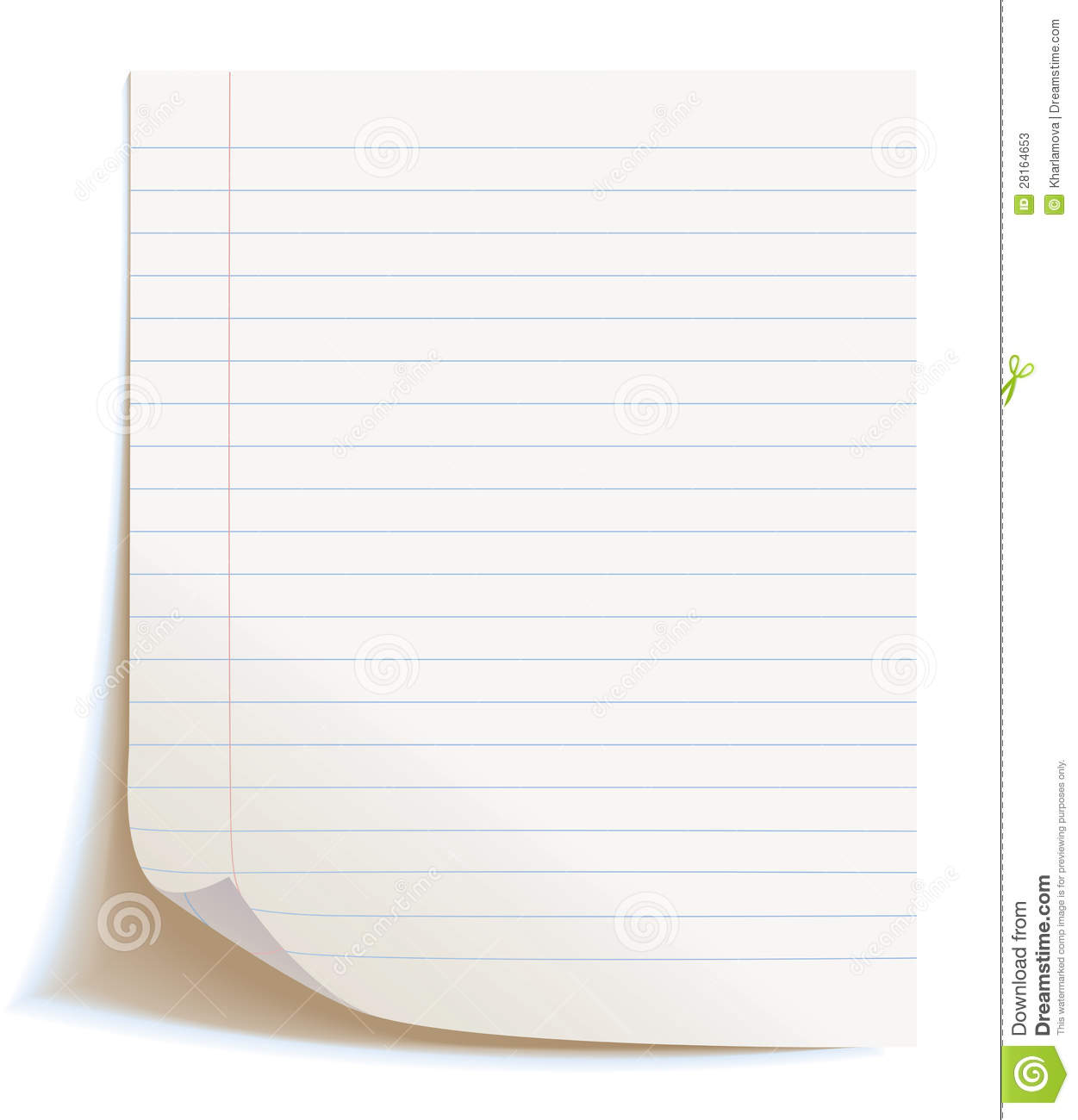 Blank Worksheet Exercise Book Stock Photos