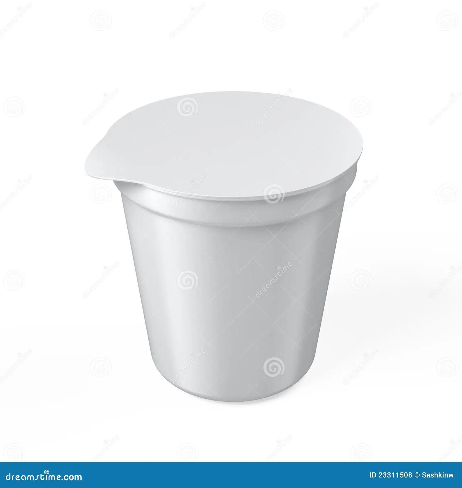 Blank Yogurt Cup Royalty Free Stock Photos Image 23311508