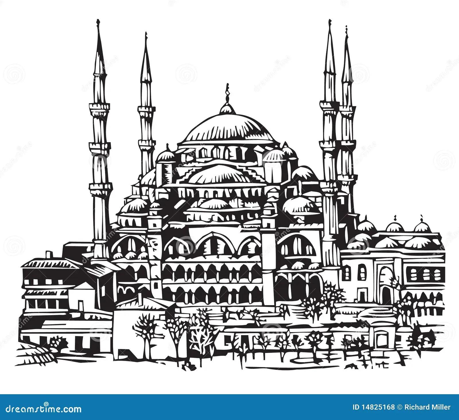Blaue Moschee Istanbul Abbildung Vektor Abbildung