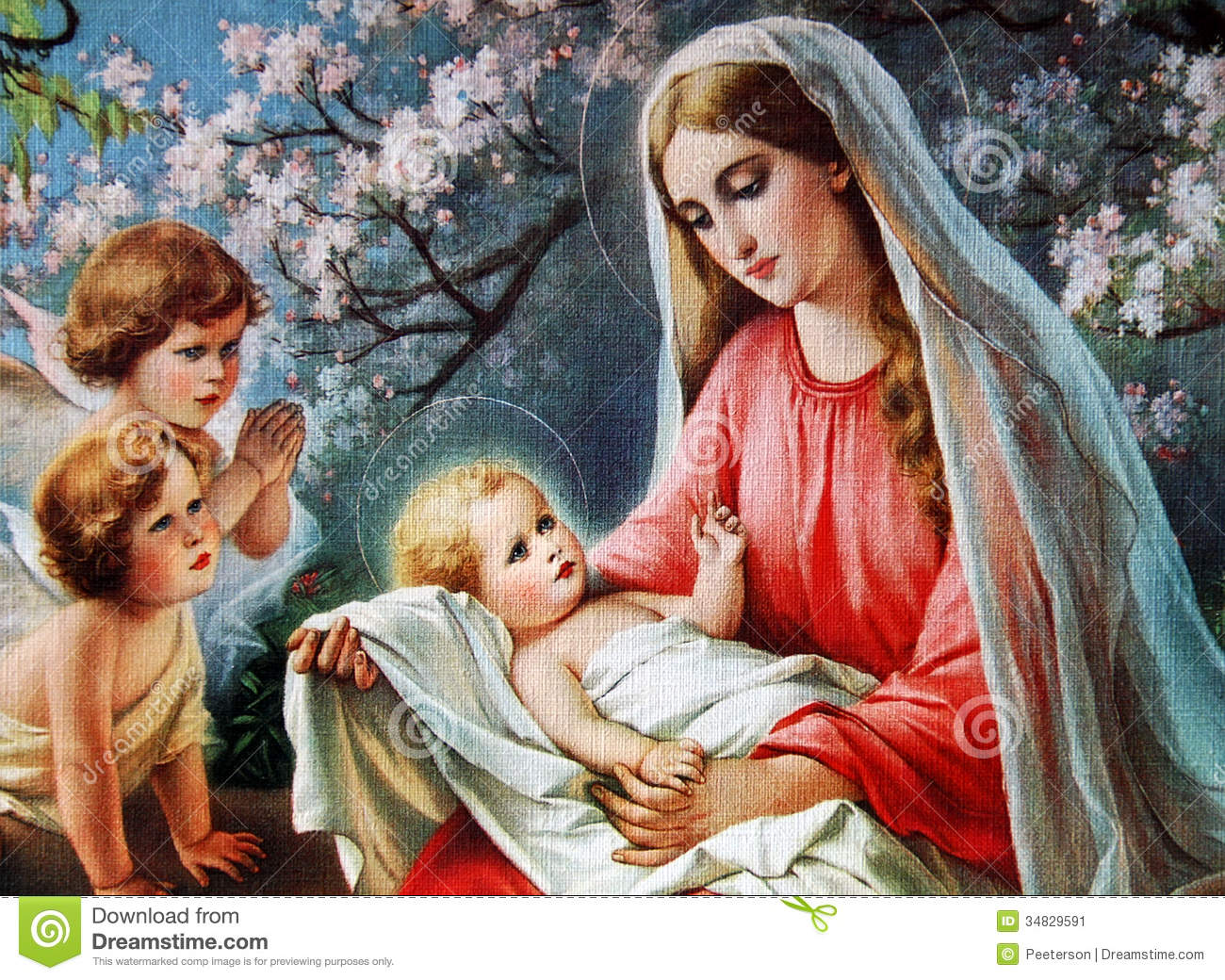 Blessed Mary With Child Jesus Stock Image Image 34829591