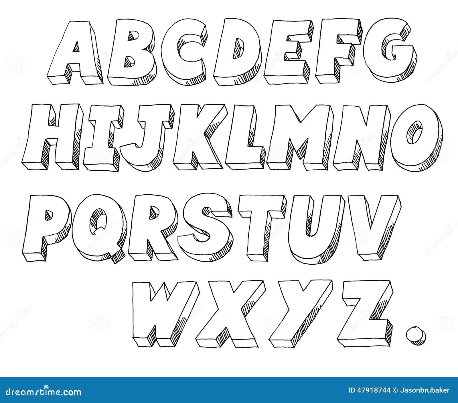 Block Letters Stock Illustration