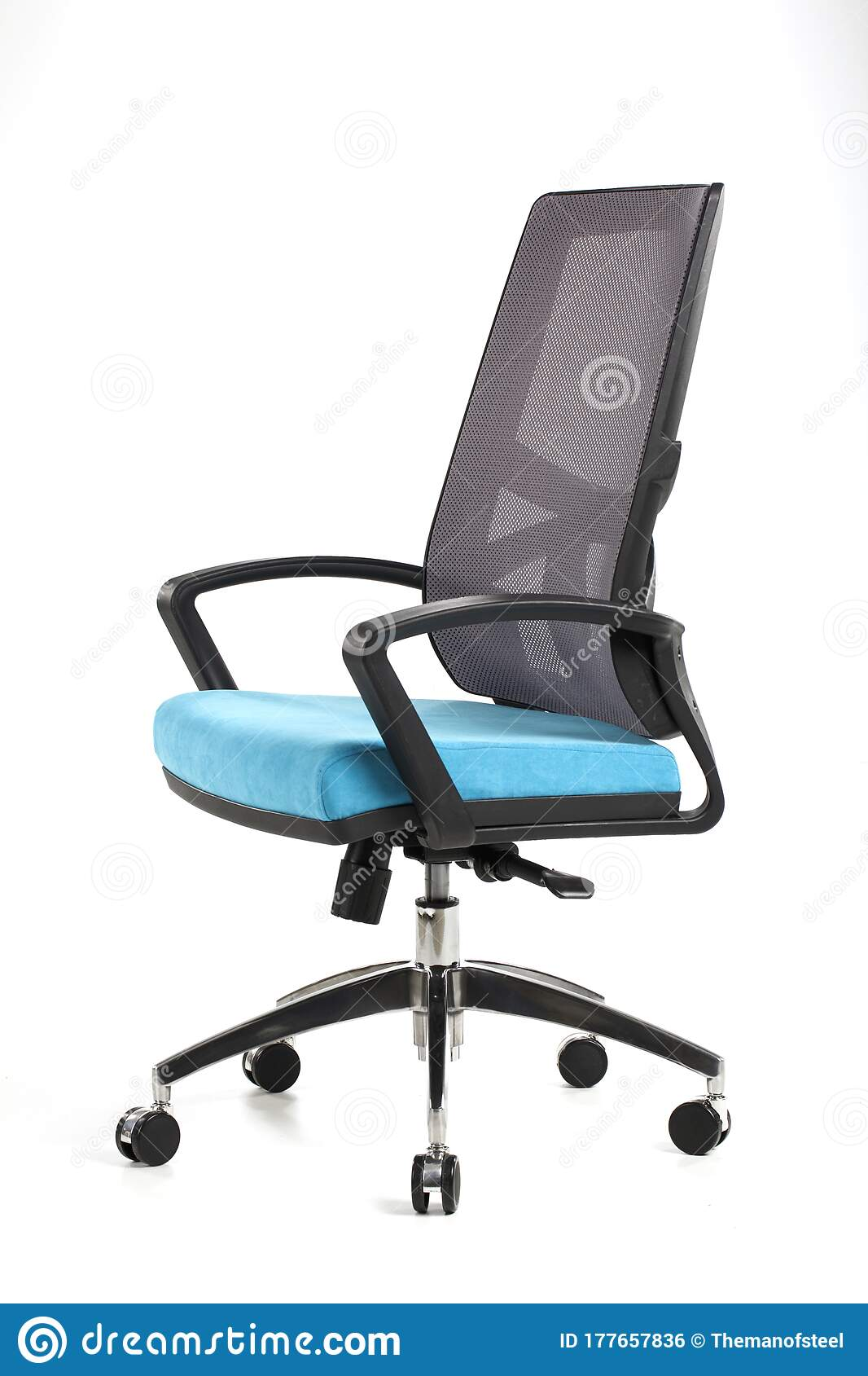 Blue And Black Office Chair Stock Photo Image Of Blue Elegance 177657836