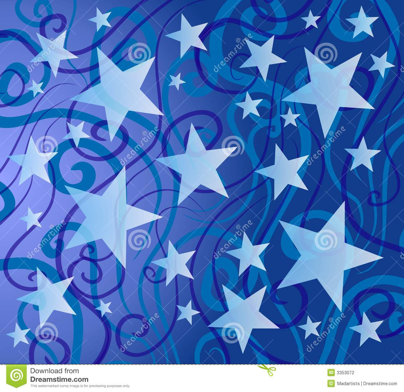 Blue Colorful Stars Pattern Stock Photography Image 3353072