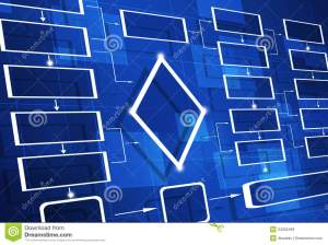Blue Flow Chart Diagram Royalty Free Stock Images  Image: 34362469