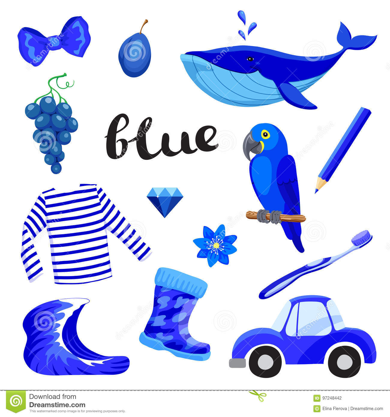 Blue Or Indigo Learn The Color Education Set
