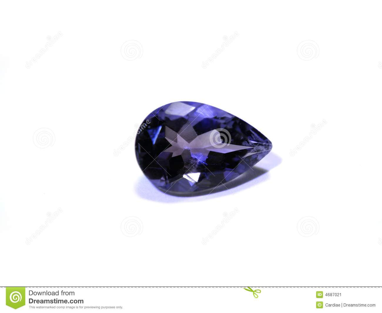 Blue Purple Gemstone Stock Image Image 4687021